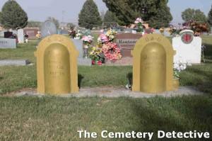 Backside of interesting grave markers.