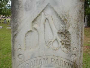 Broken Tree Grave Marker Carving