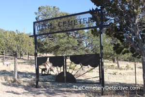 Datil Cemetery Gate New Mexico
