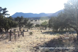 Datil Cemetery New Mexico - View of the Distant Mountains