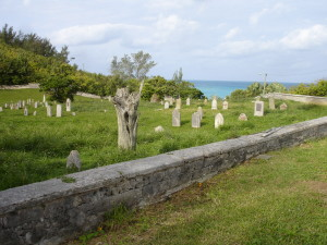 Cemetery overlooks the sea at Dawes Bay - Bermuda
