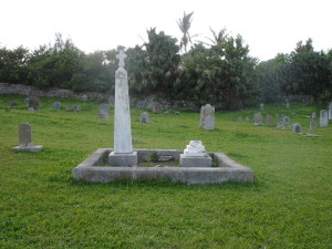 Military Cemetery on Bermuda. Grave marker of Yellow Fever Victim
