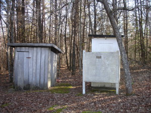 Walling Cemetery Outhouse