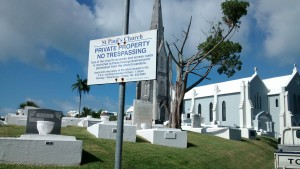St. Pauls Cemetery Sign Bermuda