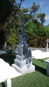 Bermuda Zinc Gravestone