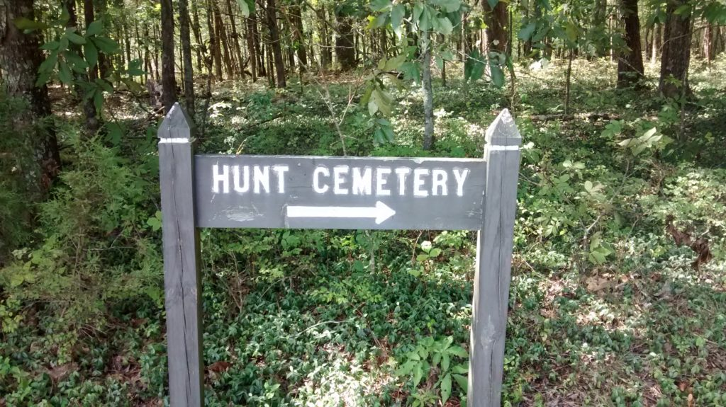 Hunt Cemetery - Sign