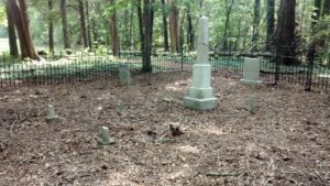 Hunt Cemetery - Fenced in area.