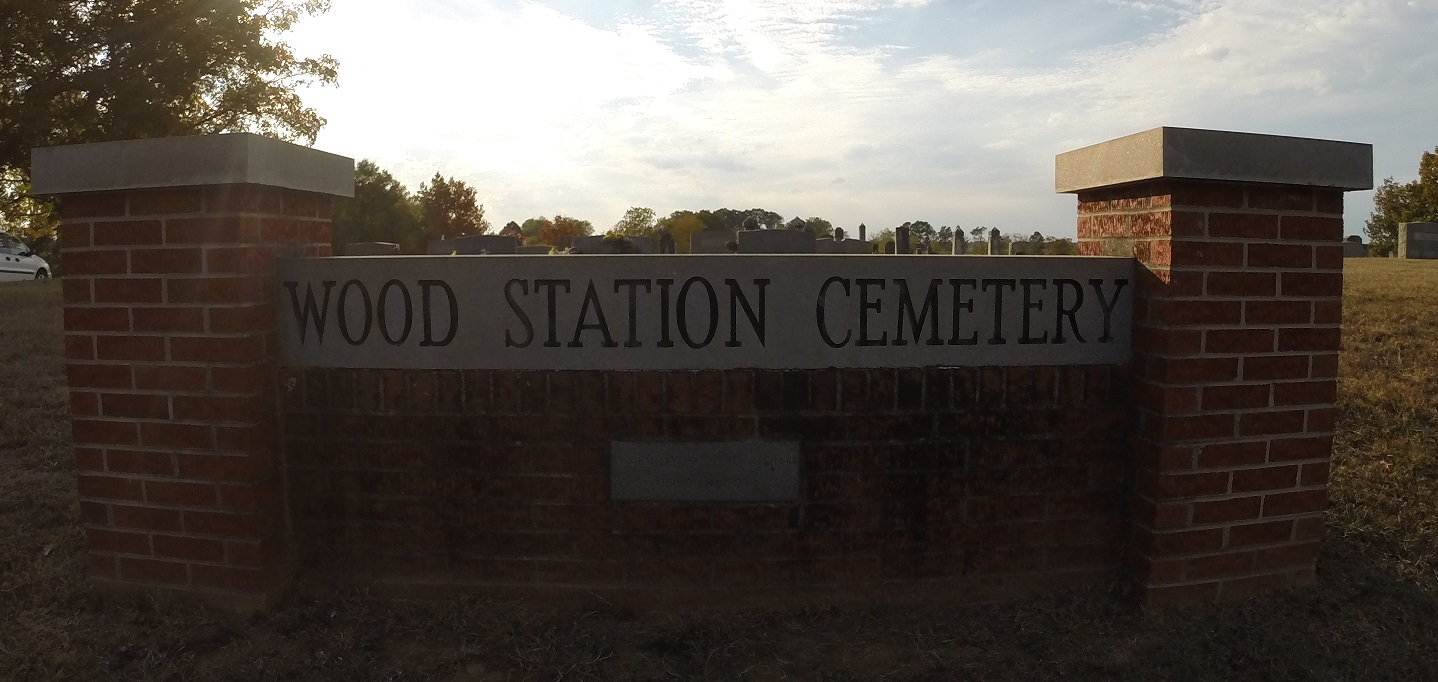 Wood Station Cemetery Sign