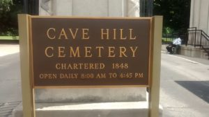Cave Hill Cemetery Sign