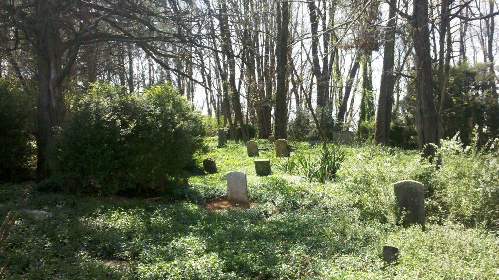 Gravestones in Stanton Cemetery