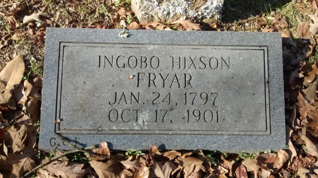 Ingobo Hixson - Fryar Cemetery