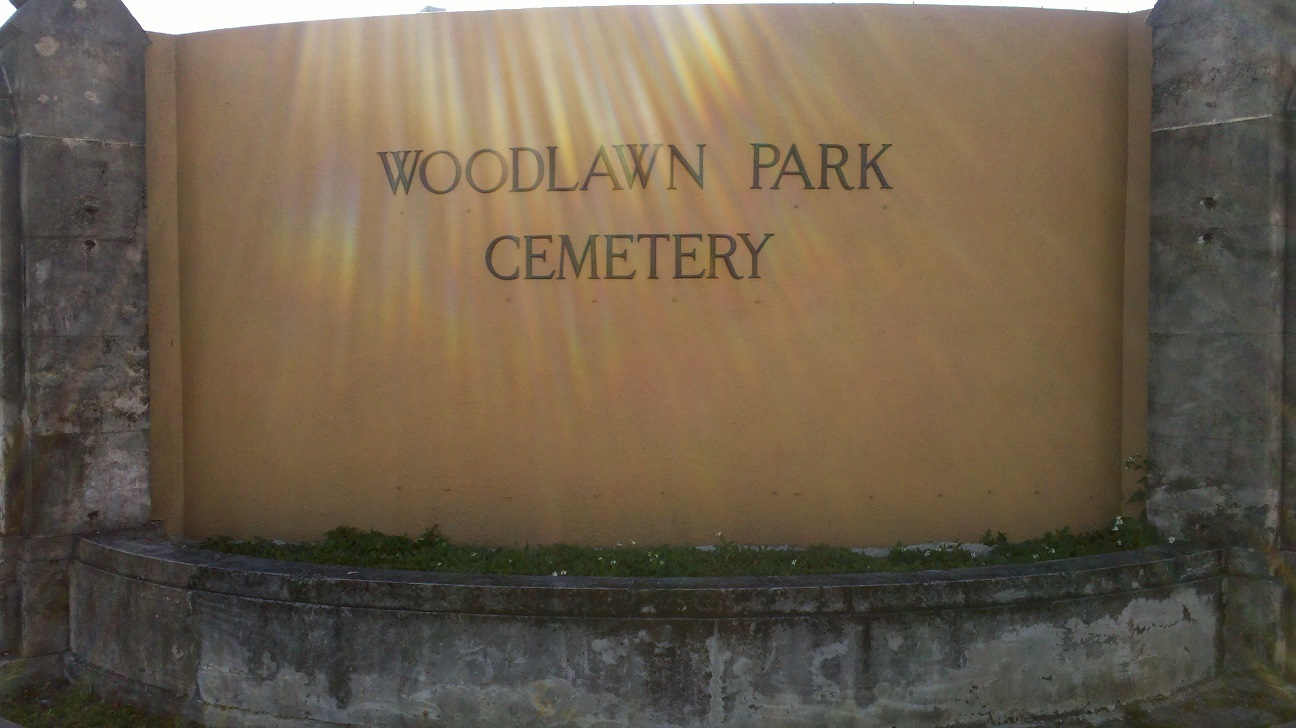 Woodlawn Park Cemetery Sign